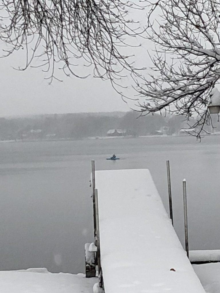 Is that a kayak on Little Latoka,  Oct 22 Snow